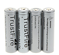 TrustFire 2500 mAh 18650  Battery (4 pcs)