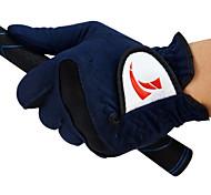 TTYGJ Hombres Micro Fiber Cloth Soft Wear Resistiendo Guantes Tinta Azul Golf - Left Hand
