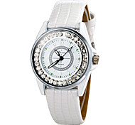 Women's Quartz Band Sparkle White