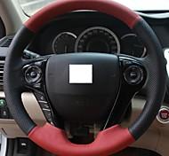 XuJi ™ Black Red Genuine Leather Steering Wheel Cover for Honda Accord 9 2013 2014