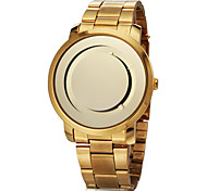 Women's Simple Round Dial Steel Band Quartz Analog Wrist Watch