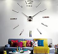 "40""H DIY 3D Mirror Acrylic Sticker Wall Clock"
