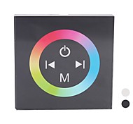 TM08 LED RGB Touch Panel Controller for Single Color LED Strip (DC12-24V Input,Max 4A*3channel Output)