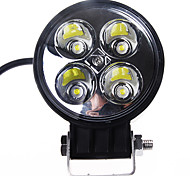 12W (4*3W) 780LM 6500K White Light Led ATV Work Spot Lamp for Off-road Driving SUV Truck (DC9-32V)