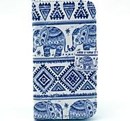 Слон Племенной Pattern ковров PU кожаный чехол с карты деньги карты держатель для Samsung Galaxy S3 I9300