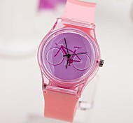 Women's  The Bicycle  Pattern Dial Plastic Band Quartz Analog Wrist watch (Assorted Colors)