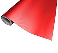 Merdia Décoration 3D PVC fibre de carbone d'enveloppe de film autocollant pour la voiture-rouge (50 x 20cm)