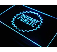 i169 Notary Public Business Displays Neon Light Sign