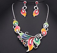 Women's Color Crystal Diamond (Necklace&Earrings) Jewelry Sets