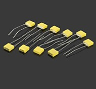 Square Style 63V Corrective Capacitors - Yellow (10PCS)