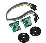 Velocidade de medição Módulo Codificação Disk Set for Smart Car Chassis