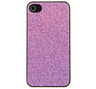 Protective Glitter Transparent Side Border Frame Back Case for iPhone 4/4S(Assorted Color)