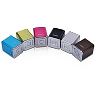 NiZHi Mini Cube Digital FM Radio Speaker (MicroSD Reader, USB, FM Radio, Assorted Colors Random Delivery)