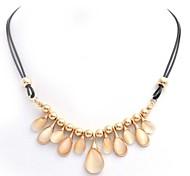 Korean Opal Partysu Women Drop Necklaces Exquisite Pendant Rope Necklace