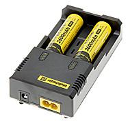 NITECORE NL186 2600mAh 18650 Battery (2pcs) + NETCORE I2 Battery Charger+ 2pcs/Lot Hard Plastic Battery Storage Box