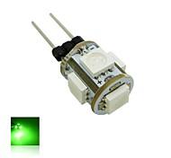 g4 1w 5x5050 smd luci blu lampada verde / lampadina del cereale (cc 12v)