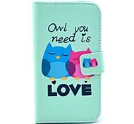 Совы тебе нужна любовь шаблон PU кожаный чехол Обложка с подставкой и слот для карт Motorola MOTO X