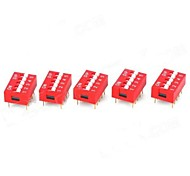 DIY 5-Digit Toggle Switches - Red + White (5 PCS)