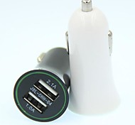 Universal Car Vehicle Dual Power 2 Port 2.1A USB Adapter Car Charger para o iphone ipad HTC Samsung ...