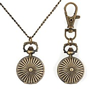 Round Ball Pattern Metallic Keychain Watch/Necklace Watch (1pc) Cool Watches Unique Watches