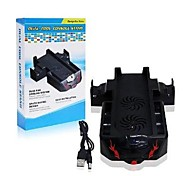 3 IN 1 Dual Dock Charging Controller Station Cooling Fan Stand for XBox One