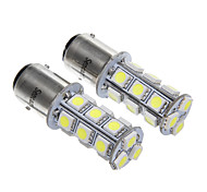 18x5050SMD White Light LED for Signal Light Lamp (2pcs)