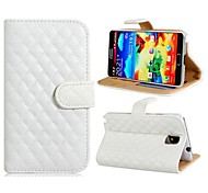 Checked Style Protective PU Leather Case for Samsung Galaxy Note 3 N9000 (Assorted Colors)