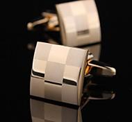 xinclubna® modischen 1,5cm Männer Gold Kupfermanschettenknopf (gold) (1 Paar)