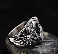 Men's Cast Metal Rome Lucky Totem Stainless Steel Ring