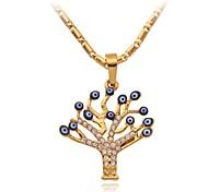 u7® novos encantos sorte olhos maus pingente 18k verdadeiro colar banhado a ouro jóias de strass austríaco para as mulheres