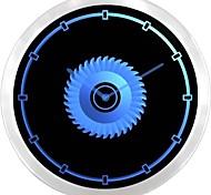 nc0946 Circular Saw Blade Carpenter Gift Neon Sign LED Wall Clock