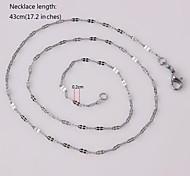 eruner®unisex plata 2 mm collar de cadena no.23