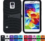 Two-in-One Arc Stripe Design PC und Silikon-Hülle mit Ständer für Samsung i9600 Galaxy S5 (verschiedene Farben)