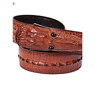 Men's Fashion Crocodile Design Vintage Cow Leather Waist Belt