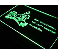 cerveja é a resposta chegar bar bêbado sinal de luz neon