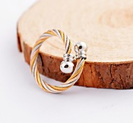 Fashion Silver Buckle Cable Stainles Steel Rings