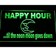 Happy Hour Blue Moon Neon Light Sign