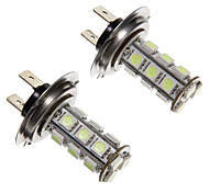H7 2.5W 18 LED 200LM 5050SMD Blue Light Lâmpada LED para carro (12V, 2pcs)