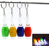 Bowling Style LED White Flashlight Keychain - 1Pcs(3 x AG3)