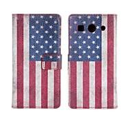 La caja del teléfono del patrón de la bandera americana de la PU de cuero para Huawei G520
