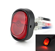 Interruptor DIY Rocker ON-OFF LED con luz roja - Negro + Rojo (12V / 30A)