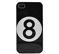 Black 8 Hard Skin Case for iPhone 4/4s