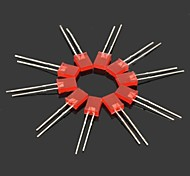 ABS Light Emitting Diode - Red (10PCS)