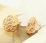 Boucles d'oreilles or Sales étoile brillant Rose