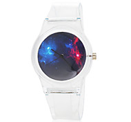 Children's Space Pattern Transparent Rubber Band Quartz Wrist Watch
