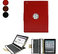 Elonbo lega di alluminio design ultra-sottile Attaccato con una tastiera Bluetooth Tipo di pelle per iPad 2/3/4