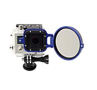 2014 New Arrival camera accessories 58mm Flip Converter for Gopro 3 Housing - Blue