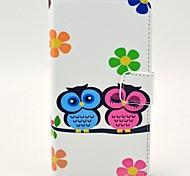 Любовник Сова шаблон PU кожаный жесткий чехол с подставкой и Гнезда для платы для HTC Desire 310