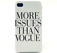 Patrón de la letra Vegas Hard Case para el iPhone 4/4S