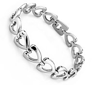 Fashion Stainless Steel Statement Heart Bracelets & Bangles High-Quality Goods Love Women Bracelet